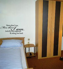 BETTER THAN I Was Dormitorio Salón Comedor ADHESIVO adhesivo pared imagen