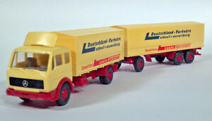 Wiking 1:87 Mercedes-Benz MB 1632 Fernlastzug Double Bottom Semi Truck Trailer