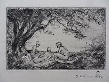 THEOPHILE ALEXANDRE STEINLEN 1859-1923 RARE ORIGINAL LTD ED 12/12 ETCHING 1922