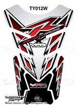 Yamaha YZF R1 / R6 White Silver Motorcycle Tank Pad Motografix 3D Gel Protector
