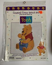 Disney Winnie The Pooh Cross Stitch Kit Pooh And Hunny Jar #34001 SEALED