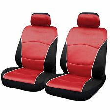 Red Black Modern Look Pair Front Pair Car Seat Covers for MG ZS All Years