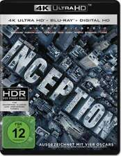 """INCEPTION"" - SciFi Action - Christopher Nolan - 4K ULTRA HD BLU RAY 2-Disc-Set"