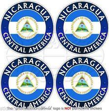 """NICARAGUA CENTRAL AMERICA Nicaraguan Bumper-Helmet Decals, Stickers 2"""" (50mm) x4"""