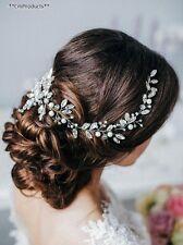 Missgrace Bridal Crystal Long Wedding Hair Vine Accessories