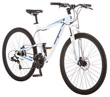 Mongoose 29 inches Men's Full Suspension Status 2.6 Bike Bicycle - White