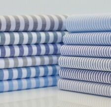Hampton Righe Blu e Bianco Cotone Tessuto Stoffa per Camicie Creazioni Quilting