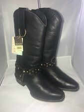 ROPER Studded Belt Women's Western Boots NEW Black Leather Size 6 M