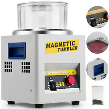 Magnetic Tumbler Jewelry Polisher Machine Finisher 180mm KT185 Time Control