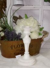 Candelabra Candlestick Candle Holder Shabby Chic Vintage Cottage White