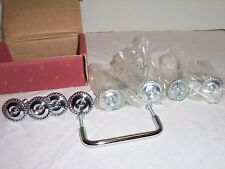 """8 CHROME CABINET 1-1/4"""" BRAIDED EDGE KNOBS AND 1 PULL BROADWAY COLLECTION NEW"""