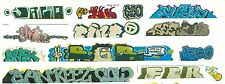HO COLORFUL GRAFFITI DECALS ASSORTMENT 205  FREE SHIPPING DOMESTIC