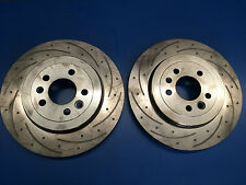 Pair Ford FPV GT GT-P BA BF Rear Disc Rotors Drilled Slotted 330mm