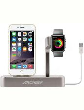 ARCHEER 2 in 1 Watch Stand Charging Station Dock Desktop Charger Adapter For 6S