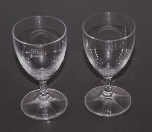 2 Weingläser Zwiesel Kristallglas 100 ml 11,5 cm ∅ 6,5 cm 70er/80er