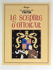 """TINTIN . SERIGRAPHIE - Couverture  """"le SCEPTRE d' OTTOKAR"""""""
