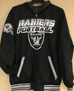 Oakland Raiders Men's Reversible Full Zip Hoody by G-III - HOT SHOT Hoody - NFL