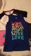 4 girl shirts I love sports Size 7/8 assorted prints Sports T-Shirts