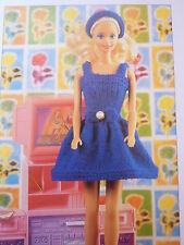 Knitting Pattern For  3 Lovely Fashion Doll Outfits In 4 Ply To Fit 12in Doll