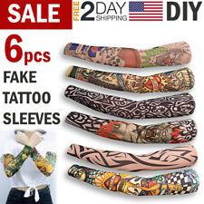 Fake Temporary Tattoo Sleeve Full Arm Sunscreen Tattoo Sleeves Slip On Lifelike