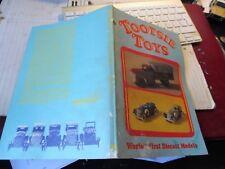 LIVRE TOOTSIE TOYS MODEL REDUIT DE 1911 à 1950