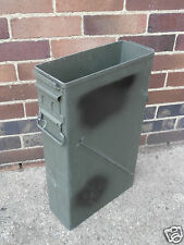 NATO/US Army Issue Large 50Cal Box Tool Box NO LIDS Tin Ammunition Surplus Metal