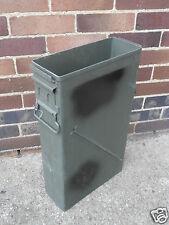 NATO/US Army Issue Large 50Cal Box Tool Box NO LIDS Tin Ammunition Surplus Metal
