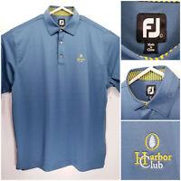FootJoy FJ Mens Large Golf Shirt Polo Harbor Club Polyester