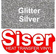 """12"""" Silver Glitter - Siser EasyWeed Heat Transfer Vinyl HTV - Iron On T Shirt"""