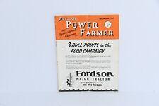 British Power Farmer magazine December 1947 issue tractor brochure book
