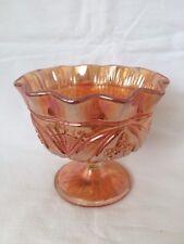 VINTAGE CARNIVAL Glass piedistallo DOLCE O BON BON Ciotola Marigold Fiori di colore