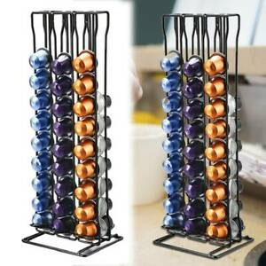 60 Coffee Pod Capsule Holder Dispenser Metal Stand Rack Tower Tidy for Nespresso