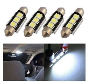 4x Ampoule 39mm LED C5W Canbus Veilleuses Plafonnier Plaque Immat Interieur Auto