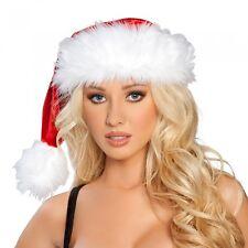 Papá Noel Gorra Santa Sombrero Navidades Terciopelo Imitación de piel