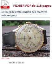Manuel initiation à la restauration des montres mécaniques. Livre électronique
