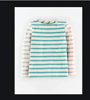 NEW RRP £11.99 Mini Boden Girls Cotton  Striped Long-Sleeve Top          (U8-1)