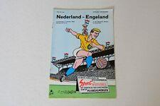 More details for netherlands v england (1969) programme (excellent)