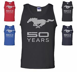 Licensed Ford Mustang 50th Anniversary Tank Top Mustang 50 Years American Muscle