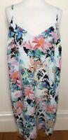 ASOS Curve Multicolour Abstract Floral Print Adjustable Strap Shift Dress AU18