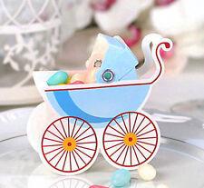 Geschenkbox 50x Gastgeschenk Geburt taufe Baby junge Kinderwagen blau