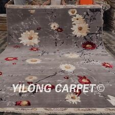 Yilong 8.3'x11.5' Flowers Handmade Wool Rug Large Baize Hand-knotted Carpet C57S