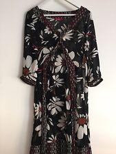 MONSOON Women's Dress with Wrap Straps, Size 12, Beautiful Floral Pattern