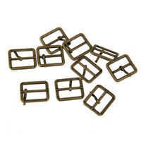 10x Metal Roller Pin Buckle Tri-glide Leather Craft Buckle Slider Strap 25mm