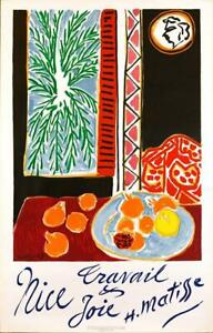 NICE TRAVAIL & JOIE by Henri Matisse 1947 Original stone lithograph