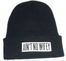 New Hip Hop AINT NO WIFEY Men's Beanies Unisex Winter Acrylic knit wool Cap Hat