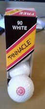 Sleeve of Three Carlton Cigarettes Logo Pinnacle 90 White Golf Balls
