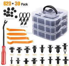 650 Pcs Car Retainer Clips Auto Fasteners Push Trim Clips Pin Rivet Bumper Kit