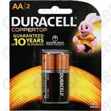 DURACELL MN1500 1.5V Coppertop Alkaline AA LR6 Battery 2PK