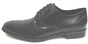 Kenneth Cole Size 10.5 Black Leather Oxfords New Mens Shoes