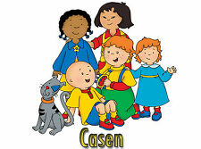 Caillou Iron-On T-Shirt Transfer w/FREE Personalization